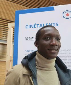 Souleymane Sylla, bénéficiaire d'une Bourse Cinétalents (crédits Caroline de Malet).