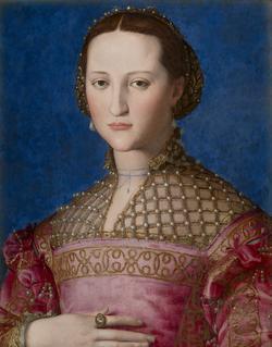 Bronzino, «Portrait d'Eléonore de Tolède», 1522.