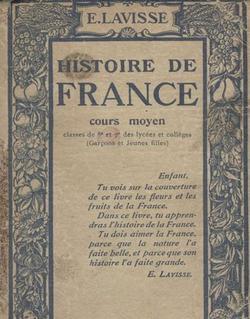 Couverture d'un manuel d'Ernest Lavisse, 1914