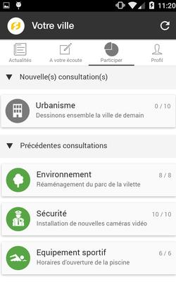 L'interface de l'application Fluicity