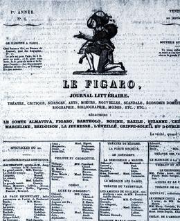 Une du Figaro daté du 20 janvier 1826.