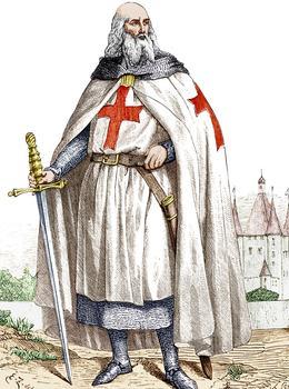 Jacques de Molay le dernier maître de l'ordre des Templiers.
