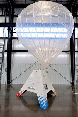 La technologie Stratollite de World View utilisera un grand ballon alimenté à l'énergie solaire pour envoyer le burger dans l'espace. Crédit photo: World View