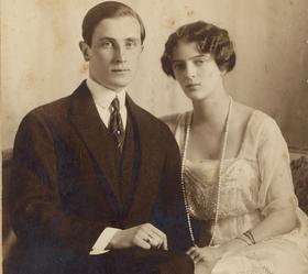 Le prince Youssoupov et sa femme vers 1921.