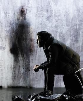 Affiche de la pièce <i>Moi, la mort, je l'aime, comme vous aimez la vie.</i>