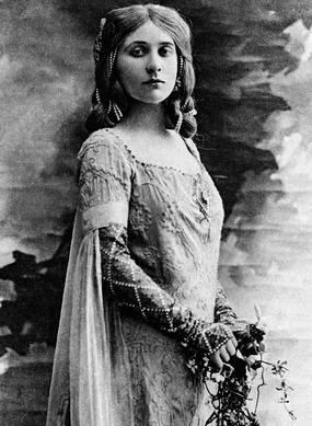 La soprano, Mary Garden, dans la première représentation de «Pelléas et Mélisande» en 1902.