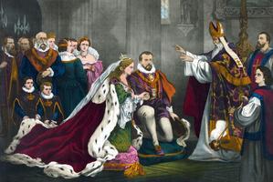 Le mariage de Marie Stuart avec son cousin Henri Stuart, Lord Darnley, en 1565.