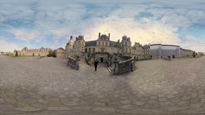 Visite virtuelle à360° du château deFontainebleau (77).
