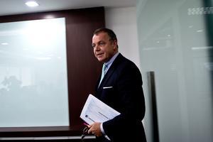Christoph Mueller, PDG de Malaysia Airlines, à la conférence de presse ce lundi.