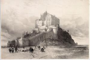 Un dessin réalisé par Édouard Corroyer, premier architecte chargé de la restauration du Mont Saint-Michel de 1872 à 1888