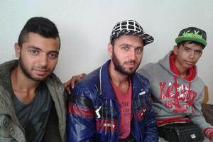 Hassoun, 20 ans ; Khaled, 30 ans et Mohamed, 17 ans.