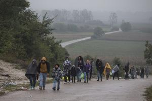 Beraskovo, lundi, à la frontière entre la Serbie et la Croatie.