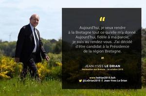 Une des affiches de campagne de Jean-Yves le Drian