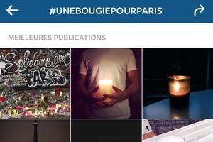 Une bougie pour Paris.