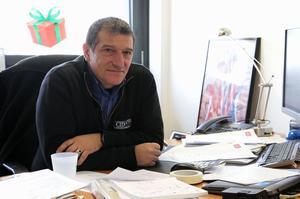 Michel Catalano, le 28 décembre 2015, dans les bureaux provisoires de son entreprise, au Mesnil-Amelot, en Seine-et-Marne.