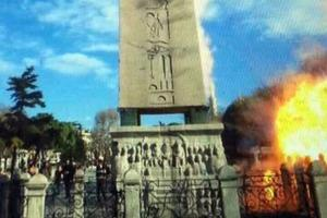 Photo de l'explosion prise par un touriste mardi vers 10h18. Le bruit de la détonation a été entendu à près de cinq kilomètres.