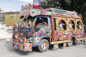 Bus décoré.