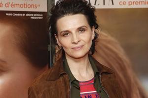 L'actrice Juliette Binoche était présente à la réunion du Printemps des poètes organisée pour Fayad Ashraf.