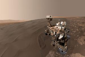Un «selfie» du robot Curiosity envoyé depuis Mars, le 31 janvier. Crédits photo: HANDOUT_NASA / NASA/JPL-CALTECH/MSSS / AFP