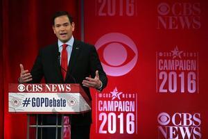 Le sénateur de Floride Marco Rubio, lors du débat républicain du 13 février.