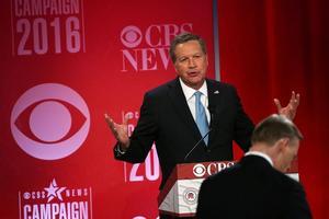 Le gouveneur de l'Ohio John Kasich, lors du débat républicain du 13 février.