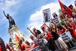 Rassemblement de la Marche pour la fermeture des abattoirs, en juin 2015.