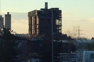La centrale de Didcot après l'explosion.