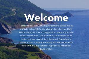 «Welcome!», la première photo très accueillante du site de Rob Calabrese.