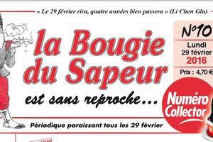 La Bougie du Sapeur, le journal satirique qui ne sort que les 29 février.