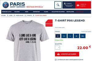 Le t-shirt avec la célèbre phrase d'Ibra.