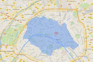 La zone d'évolution du Cityscoot devrait s'étendre aux boulevards des Maréchaux, qui ceinturent Paris, en novembre-décembre prochain. Le parc sera alors ede 400-500 machines.