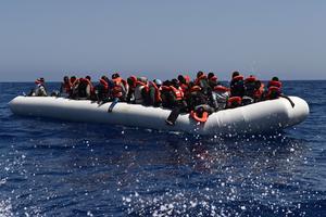 Les migrants étaient répartis sur 15 canots