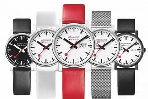 La collection «Stop2Go» de Mondaine, à quartz, à partir de 169€