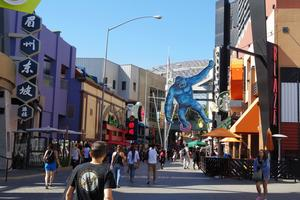 L'Universal City Walk à Los Angeles.