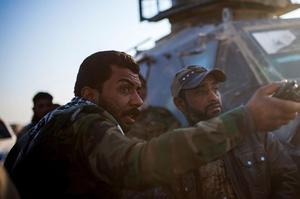Les Forces de mobilisation populaires (FMP) avancent vers la ville de Tall Afar, à l'ouest de Mossoul, le 20 novembre.
