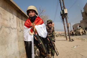 Qaraqosh était une ville chrétienne sous l'occupation de l'Etat Islamique depuis 2 ans. La 16ème et la 9ème divisions de l'armée Irakienne ainsi que la milice chrétienne du NPU se sont attelés à la libérer.