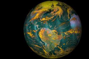 Photo de la Terre envoyée par la Nasa.