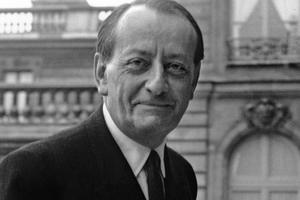André Malraux, ministre des affaires culturelles du général de Gaulle. ici en 1965.