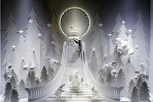 Maquettes en papier aux Galeries Lafayette.