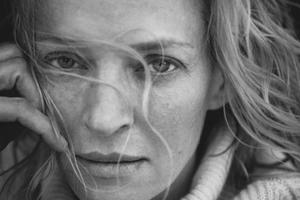L'actrice Uma Thurman. Calendrier Pirelli 2017 par Peter Lindbergh