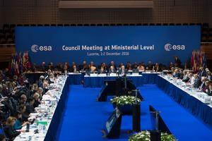 Les ministres des 22 pays membres de l'Agence spatiale européenne se sont réunis à Lucerne, en Suisse.
