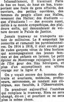 Hommage à la ligne Montrouge-Gare de l'Est dans Le Figaro du 31 août 1936.