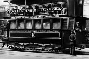 Un tramway électrique vers 1900.