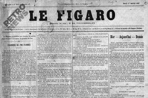 La Une du Figaro du 01/01/1867.