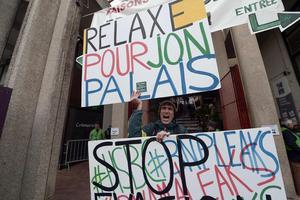 Entre 1 500 et 2 000 manifestants étaient venus pour soutenir Jonathan Palais. Crédit photo: IROZ GAIZKA