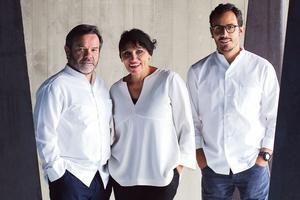 Michel, Marie-Pierre et César Troisgros. (crédit Laurent Dupont)