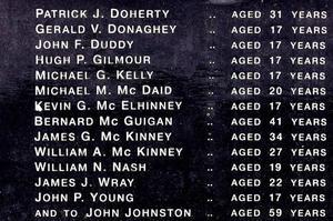 Liste des victimes du Bloody Sunday de janvier 1972 avec leur âge
