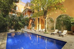 La Casa Pestagua, aménagée en hôtel 5étoiles, serait la plus grande maison de Carthagène.