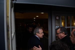 Florentio Perez, président du Real Madrid s'est rendu sur place