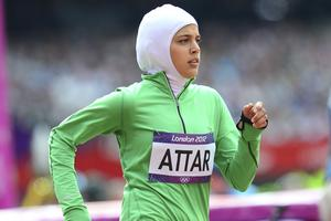 Sarah Attar lors des JO de Londres en 2012